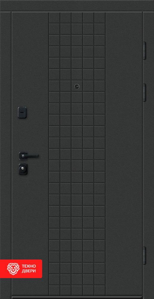 Дверь матовая тёмная МДФ, 27759 внешняя сторона