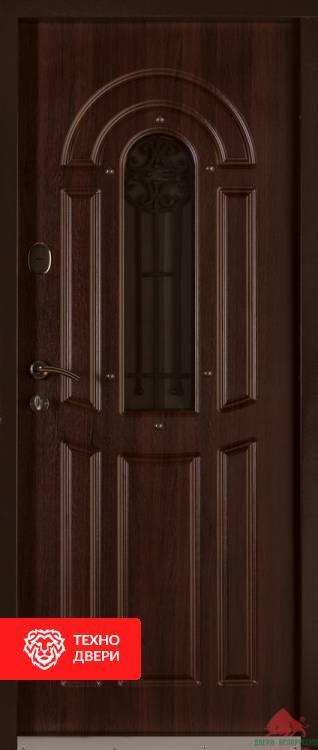 Двери Флора с коваными элементами Орех Коньяк, 17350 внутреняя сторона