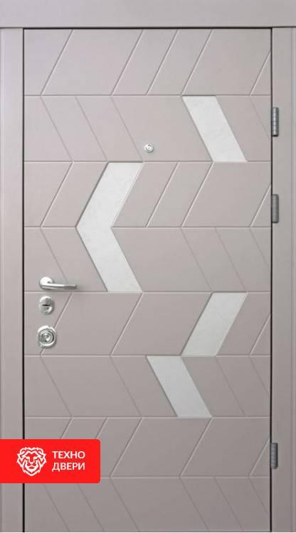 Дверь МДФ с двух сторон рис. Соты, 10003 внешняя сторона
