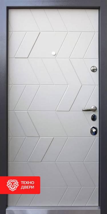 Дверь МДФ с двух сторон рис. Соты, 10003 внутреняя сторона