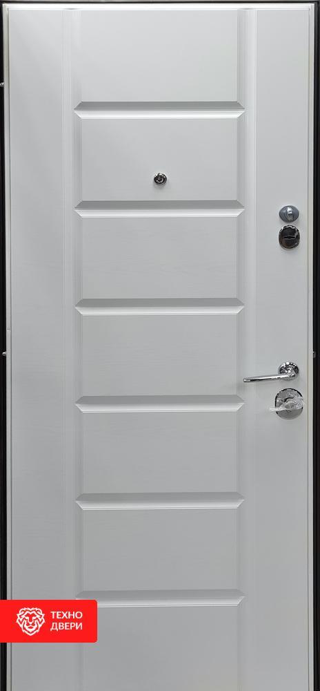 Двери МДФ серебряный дуб / пломбир, 27865 внутреняя сторона