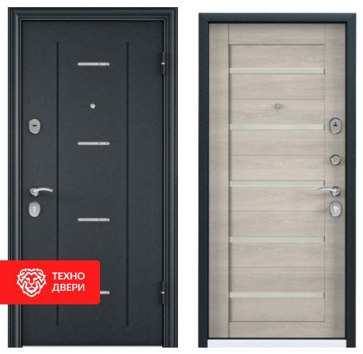 Дверь напыление темно-синий/ МДФ белый дуб, 545985