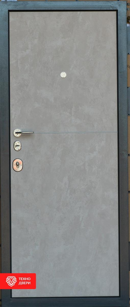 Дверь цвет Тёмный и светлый бетон, 27374 внутреняя сторона