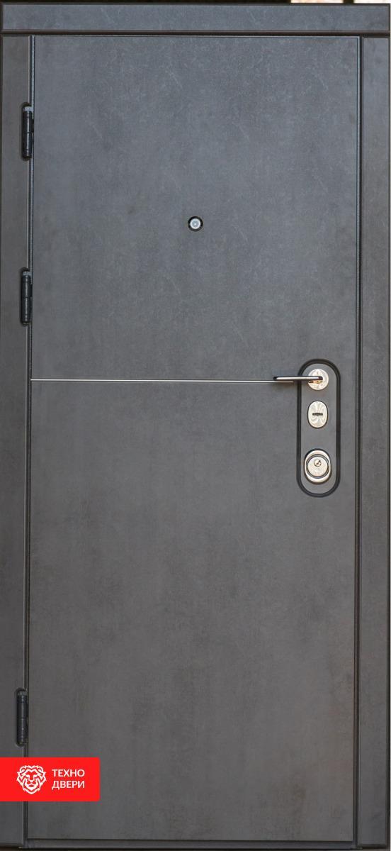 Дверь цвет Тёмный и светлый бетон, 27374 внешняя сторона