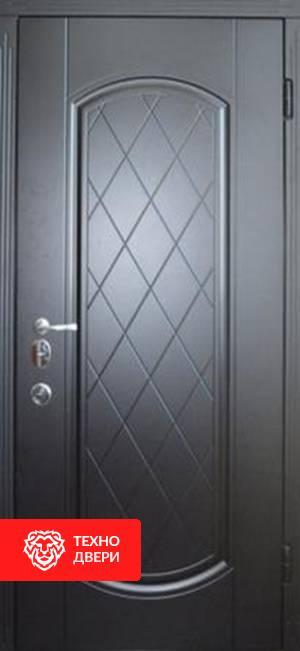 Дверь МДФ серии LUX МДФ в 3 контура утепления внешняя сторона