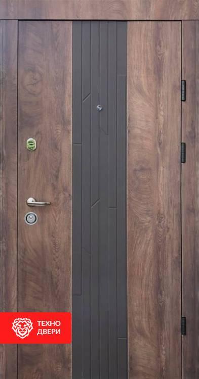 Дверь накладка шпон дуба Коньячный цвет, 10006 внешняя сторона