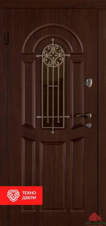 Двери Флора с коваными элементами Орех Коньяк, 17350 внешняя сторона