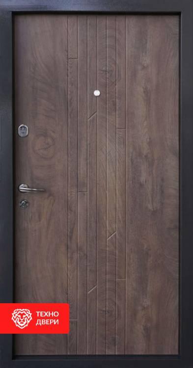 Дверь накладка шпон дуба Коньячный цвет, 10006 внутреняя сторона