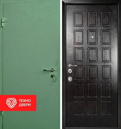 Стальная дверь с простым окрасом и МДФ шоколад, 27532