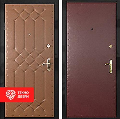 Железная дверь с винилискожей с рисунком и винилискожей гладкой, 27545