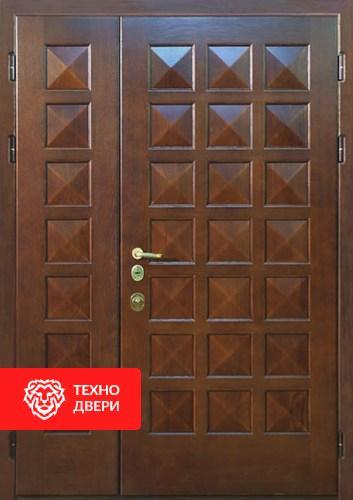Металлическая тамбурная дверь с массивом дуба с 2-х сторон, 27534