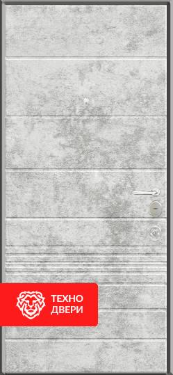 Двери МДФ Модерн Серый мрамор / Белый мрамор, 22276 внутреняя сторона