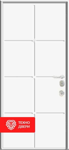 Двери МДФ Модерн Шоколад / Белый шоколад, 22270 внутреняя сторона
