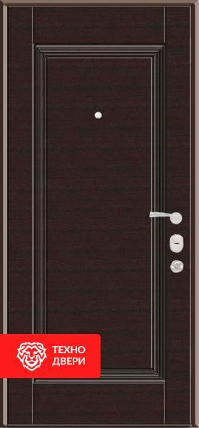 Дверь МДФ с рисунком Классика коричневая с двух сторон, 22234 внешняя сторона