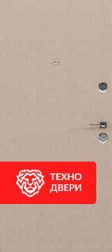 Дверь металлическая серый и бежевый шагрень, 24181 внутреняя сторона