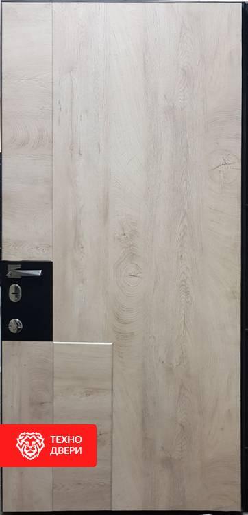 Дверь МДФ под дерево Тёмно коричневая / Светло коричневая, 21972 внутреняя сторона