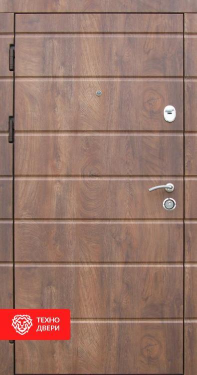 Двери МДФ коньячный, рис. Полосы, 22337 внешняя сторона
