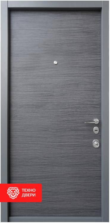 Дверь МДФ графитового цвета рисунок Горы, 100027 внутреняя сторона