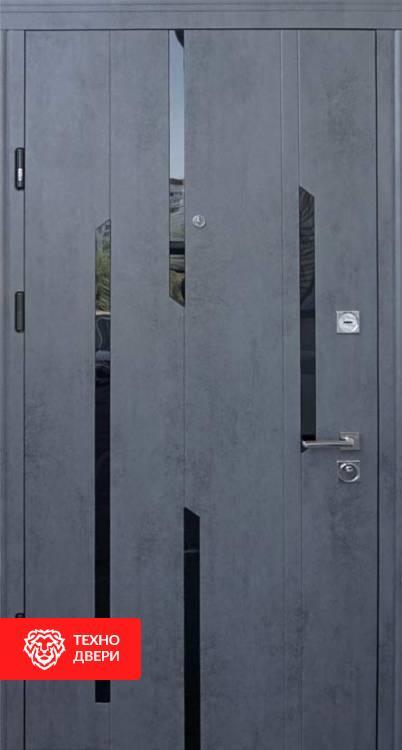 Дверь со стеклянными вставками рисунок Лучи, 10026 внешняя сторона