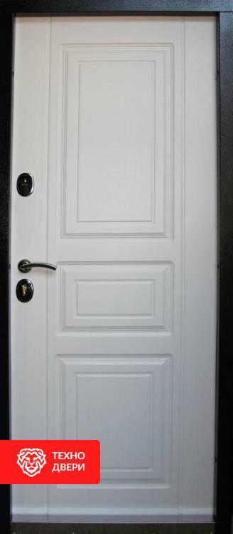 Дверь в дом чёрная-белая стиль Прованс, 22064 внутреняя сторона