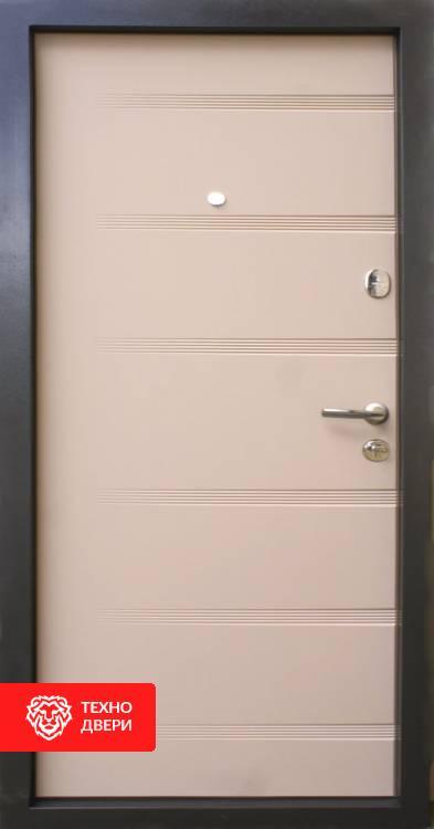 Дверь порошковое напыление Латте, 10013 внутреняя сторона