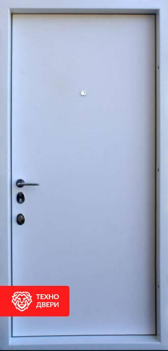 Дверь МДФ белый и графит рисунок Сумрак, 100026 внутреняя сторона