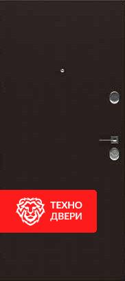 Дверь металл Медь матовая / Чёрное напыление, 24202 внутреняя сторона