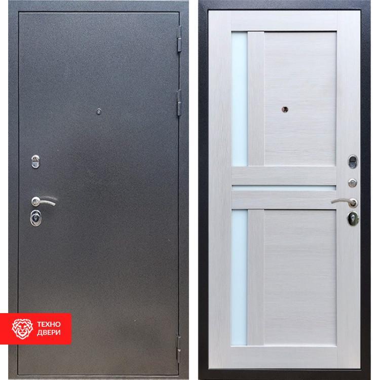 Входная стальная дверь Антик серебро / Лиственница беж, 16670