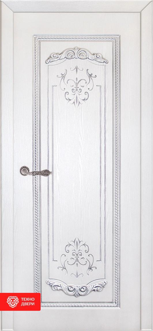 Дверь с терморазрывом МДФ фрезерованная Тёмно-коричневый / Слоновая кость, 27657 внутреняя сторона
