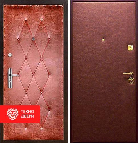 Металлическая дверь с винилискожей с рисунком и гладкой винилискожей, 87856