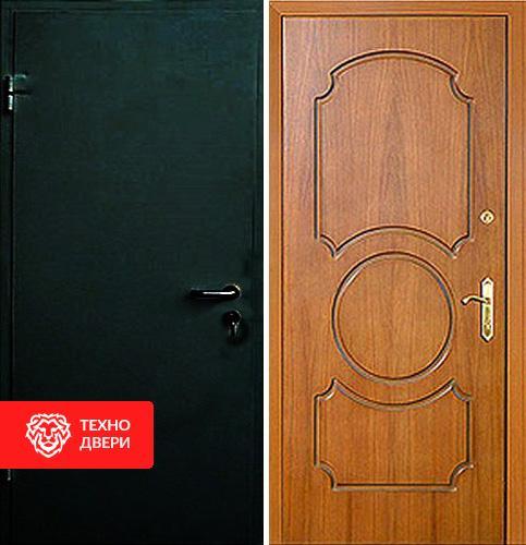 Входная дверь с простым порошковым окрасом и МДФ, 27547