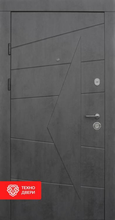 Дверь МДФ имитация бетона с двух сторон рисунок, 10010 внешняя сторона