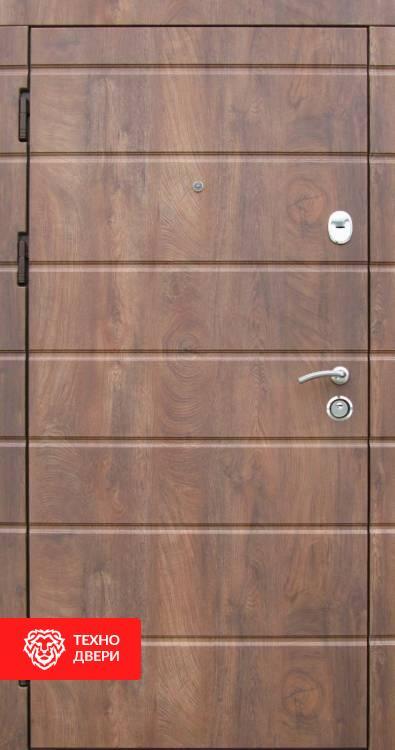 Дверь МДФ накладки цв.спил дерева Коньячный, 10013 внутреняя сторона