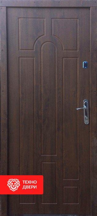 Дверь металл и МДФ эконом, 10019 внутреняя сторона