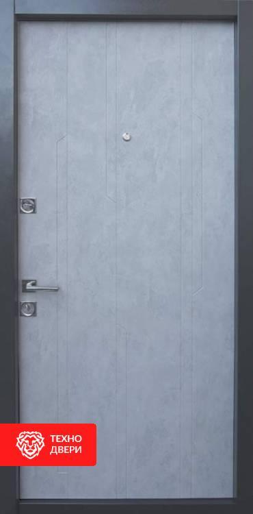 Дверь со стеклянными вставками рисунок Лучи, 10026 внутреняя сторона