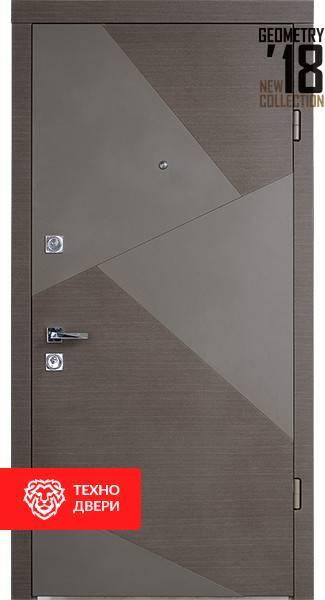 Дверь МДФ белый и графит рисунок Сумрак, 100026 внешняя сторона