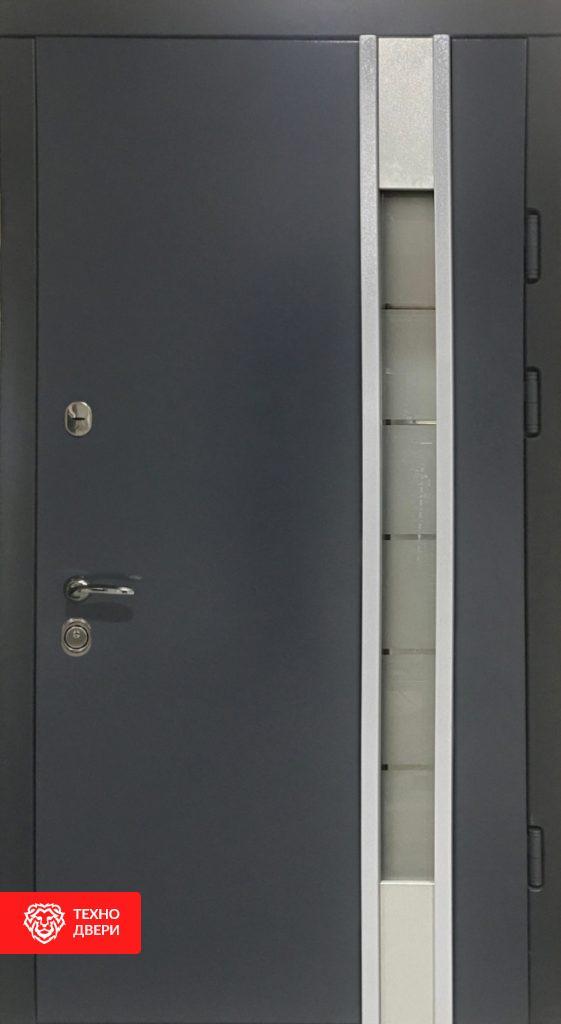Дверь МДФ Модерн Серая со стеклом, 26998