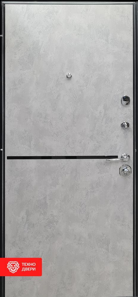 Дверь Бетон антрацит / Бетон серый, 27868 внутреняя сторона