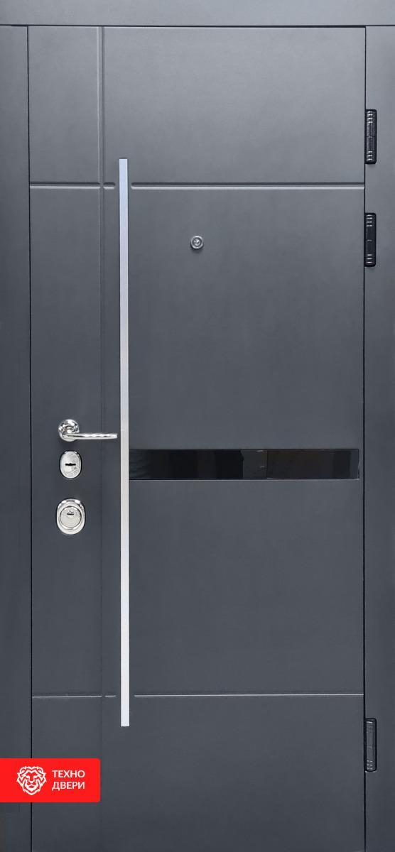 Дверь Модерн металл серая шагрень / Белый супермат, 27870 внешняя сторона