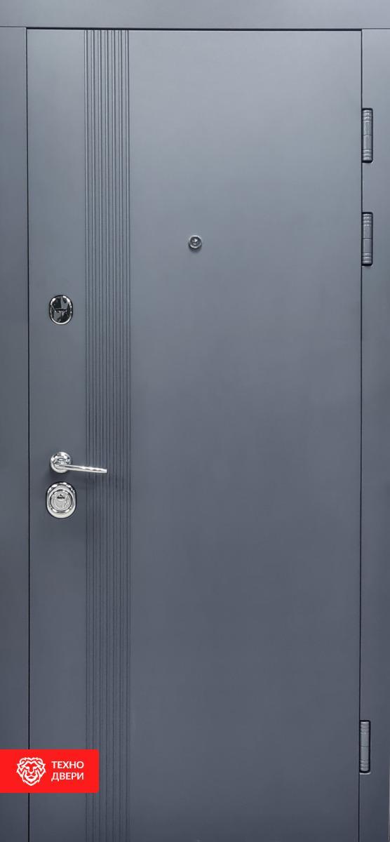 Дверь метал графит матовый/ МДФ белый супермат, 27862 внешняя сторона