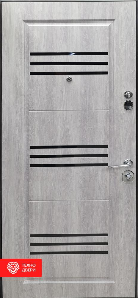 Дверь МДФ Модерн Дуб серебряный, 27863 внутреняя сторона