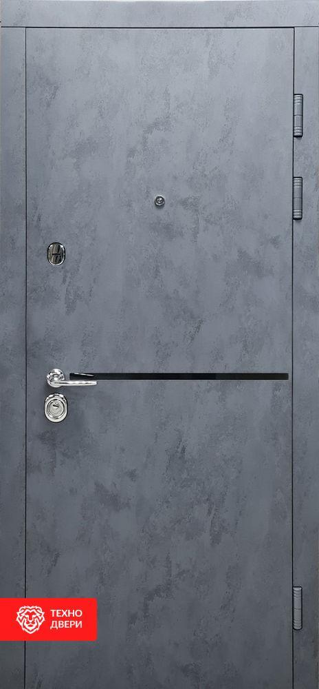 Дверь Бетон антрацит / Бетон серый, 27868 внешняя сторона