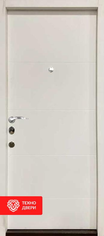 Дверь входная чёрно — белая  утепленная и усиленная, 26773 внутреняя сторона