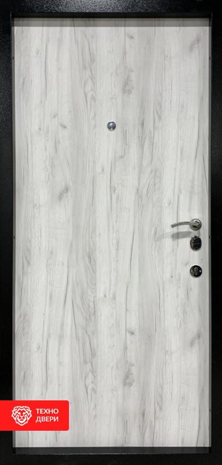 Дверь с утепленным коробом Серая / Лен Сильвер, 26772 внутреняя сторона