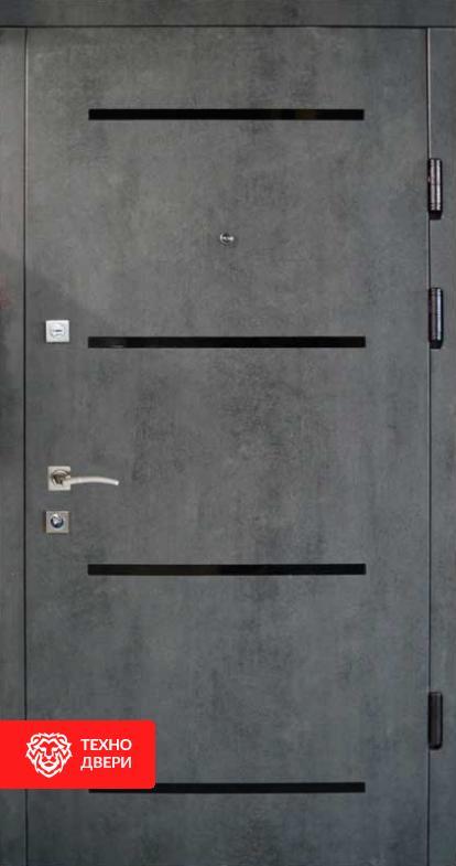 Дверь под бетон с двух сторон декор лакобель, 26774 внешняя сторона
