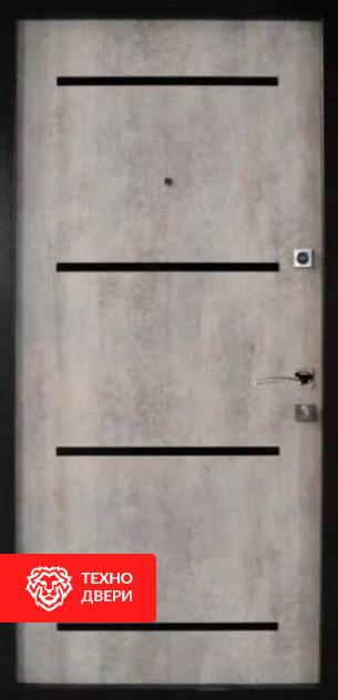 Дверь под бетон с двух сторон декор лакобель, 26774 внутреняя сторона