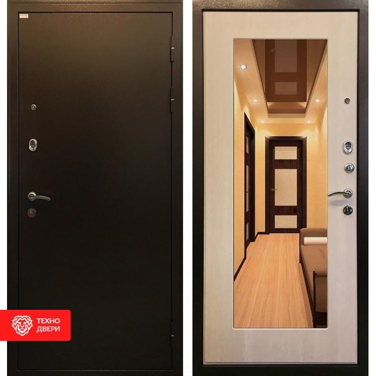 Входная металлическая дверь с зеркалом Экодуб, 3794