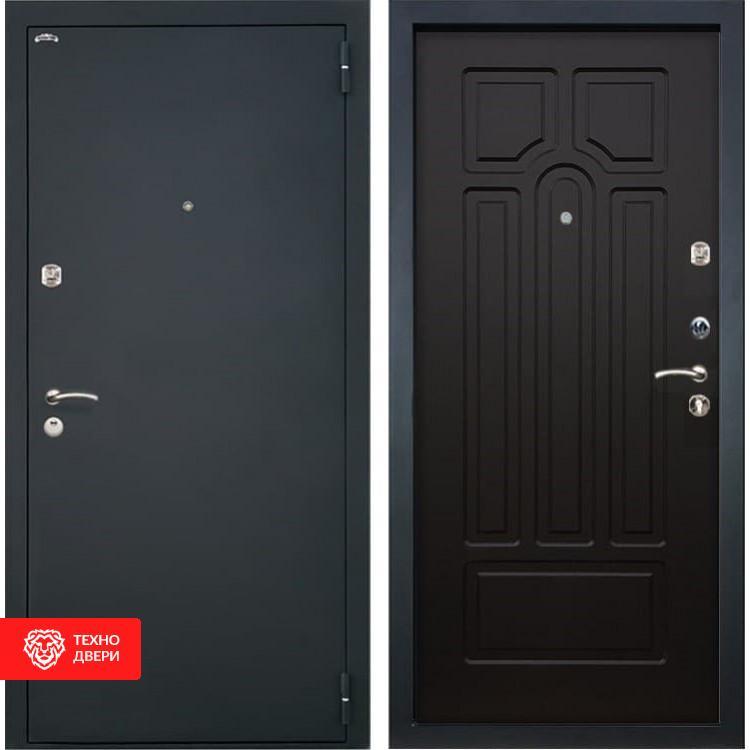 Входная стальная дверь Шагрень черная / Венге, 2893