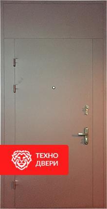 Металлическая тамбурная недорогая дверь с фрамугой, Т-15