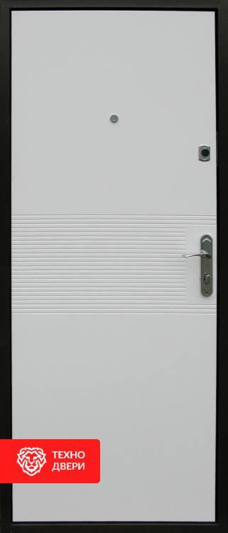 Дверь МДФ накладки цв.Венге и белый, 10014 внутреняя сторона